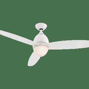 Premier loftventilator med fjernbetjening og lys Ø132 cm - Hvid/Transparant